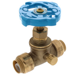"1/2"" x 1/2"" SharkBite Gate Valve with Drain (Lead Free) Product Image"