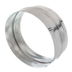 "8"" Galvanized Connector for Rigid, Semi-rigid, and Flexible Duct Product Image"