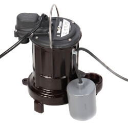 1/3 HP Auto Submersible Effluent Pump, 115V<br>10' Cord Product Image