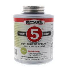 RectorSeal No. 5 Pipe Thread Sealant w/ Brush Top (16 oz.) Product Image