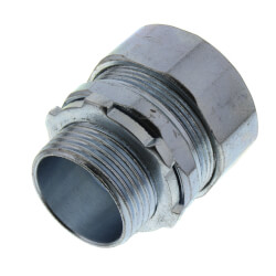 """3/4"""" Steel Rigid Compression Connector Product Image"""