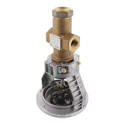 "1/2"" 3-Way Brass Mixing Valve Actuator, 4"" 3-8 psi<Br>Female x Female (2.5 Cv) Product Image"