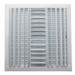 "14"" x 14"" (Wall Opening Size) Three-Way White Sidewall/Ceiling Register (A613MS Series) Product Image"
