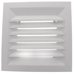 "9"" x 9"" (Wall Opening Size) White Steel Louvered Ceiling Diffuser, Flat Margin (SRE1 Series) Product Image"