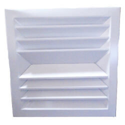 """12"""" x 12"""" (Wall Opening Size) White Steel Louvered Ceiling Diffuser, Flat Margin (SRE2 Series) Product Image"""