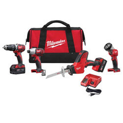 M18 4-Tool Combo Kit (Hammer Drill, Hackzall, Impact Driver, Work Light) Product Image
