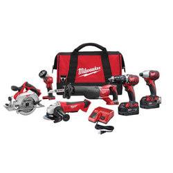 M18 Cordless Tool Kit (HammerDrill, Sawzall, Circ. Saw, Impact Driver, Grinder, Work Light) Product Image