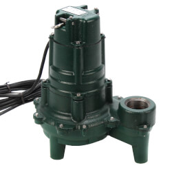 Model N270 Waste-Mate Man. Cast Iron Sewage Pump - 115 V, 1 HP Product Image