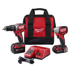 M18 Compact Brushless Lithium-Ion Hammer Drill & Impact Driver Kit Product Image