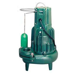 "Model E284 Waste-Mate Non-Automatic Cast Iron Sewage Pump - 3"" Discharge, 230 V, 1 HP (Single Seal) Product Image"