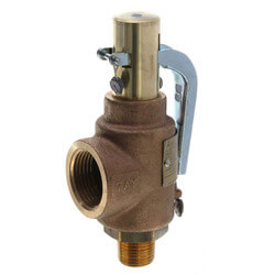 "29 Series 1/2"" MNPT x 1"" FNPT 423 LBS/HR Safety Relief Valve (100 psi) Product Image"