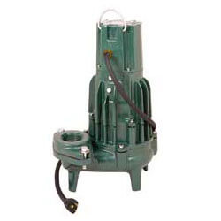 "Model E293 High Head Waste-Mate Non-Automatic Cast Iron Sewage Pump - 230 V, 1 HP, 3"" Discharge (Single Seal) Product Image"