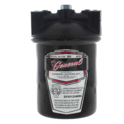 """2A-17A Fuel Oil Filter - 1/2"""" Pipe, 60 Mesh, Viton Gasket, Epoxy Coated Product Image"""