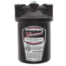 """2A-17A Fuel Oil Filter - 3/4"""" Pipe, 60 Mesh, Viton Gasket, Epoxy Coated Product Image"""