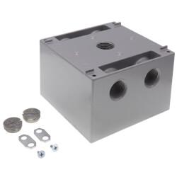 "2-Gang, 1/2"", 5 Deep Holes Raintight Device Box (Silver) Product Image"