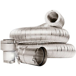 "4"" x 9 Ft. Double Wall Insulated Vent Connector Kit Product Image"