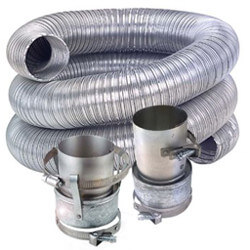 """5"""" x 6 Ft. Single Wall Oil Vent Connector Kit Product Image"""