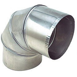 """4"""" Stainless Steel<br>90° Elbow (4 Piece) Product Image"""