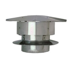 "4"" Stainless Steel<br>Rain Cap Product Image"