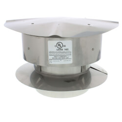 "6"" Stainless Steel<br>Rain Cap Product Image"