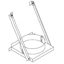 """4"""" Z-Vent Double Wall Base Support (6"""" OD) Product Image"""