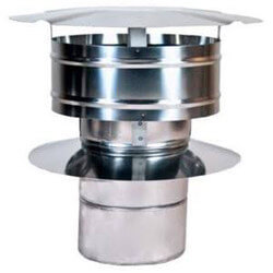 "6"" Z-Vent Double Wall Rain Cap w/ Wind Band Product Image"