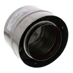 """8"""" Z-Vent Double Wall Tee Cap with Drain Product Image"""