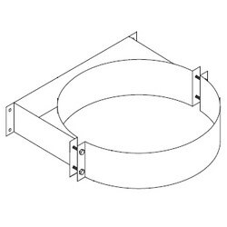 "3"" Z-Vent Double Wall Vent Support (5"" OD) Product Image"