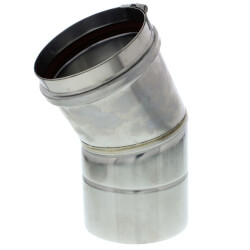 "4"" x 30° Z-Vent<br>Single Wall Elbow Product Image"