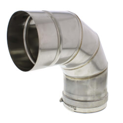"""5"""" x 90° Z-Vent<br>Single Wall Elbow Product Image"""