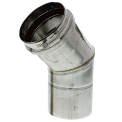 "3"" x 45° Z-Vent<br>Single Wall Elbow Product Image"