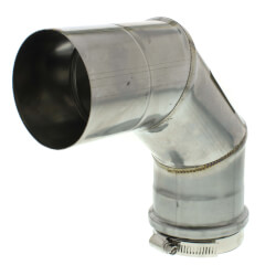 "3"" x 90° Z-Vent<br>Single Wall Elbow Product Image"