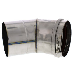 "6"" x 45° Z-Vent<br>Single Wall Elbow Product Image"