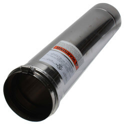 "4"" x 1.5 Ft. Z-Vent<br>Single Wall Pipe Product Image"