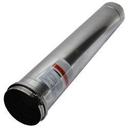 "4"" x 2 Ft. Z-Vent<br>Single Wall Pipe Product Image"