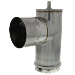 "4"" Z-Vent Condensation Drain (Vertical Draintee) Product Image"