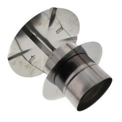 "8"" Z-Vent Single Wall Low Resistance Rain Cap Product Image"
