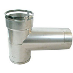 """6"""" Stainless Steel<br>Lock N' Go Base<br>Tee with 8"""" Branch Product Image"""