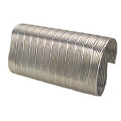 "6"" x 5 Ft. Flexible Stainless Steel Oval Liner Product Image"