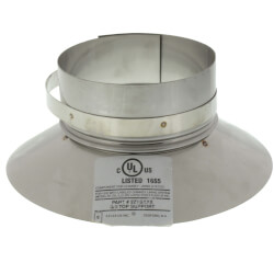 """4"""" Stainless Steel Top Support / Storm Collar Product Image"""