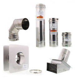 """4"""" Z-Vent Wall Hung Water Heater Vent Kit Product Image"""