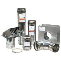 """4"""" Z-Vent Water Heater Horizontal Vent Kit<br>w/ Backflow Product Image"""