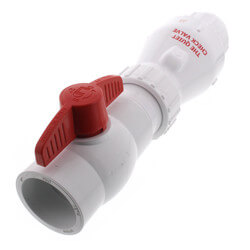 "2"" PVC ""Quiet Check"" Solvent Weld w/ Ball Valve (White Valve Body) Product Image"