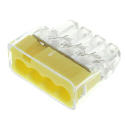 In-Sure Push-In Wire Connectors - 4 Ports, Yellow (Box of 100) Product Image