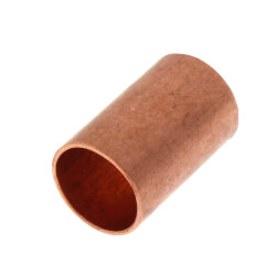 """1/2"""" Copper Coupling<br>Less Stop Product Image"""