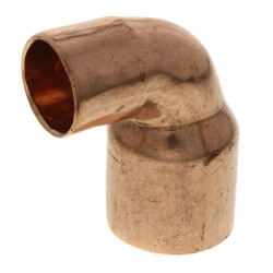 "3/4"" x 1/2"" Copper 90° Elbow Product Image"