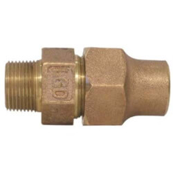 """1-1/2"""" Flare x MNPT Coupling - T-4100NL (No Lead Bronze) Product Image"""