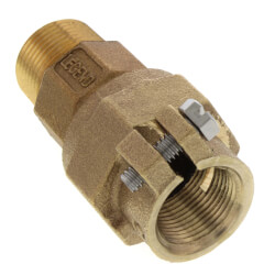 """1"""" x 3/4"""" Pack Joint (CTS) x MNPT Coupling - T-4300NL (No Lead Bronze) Product Image"""