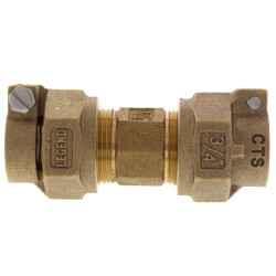 "1"" Pack Joint (CTS) x Pack Joint (CTS) Union -T-4301NL (No Lead Bronze) Product Image"