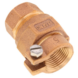 """3/4"""" Pack Joint (CTS) x FNPT Coupling - T-4305NL (No Lead Bronze) Product Image"""